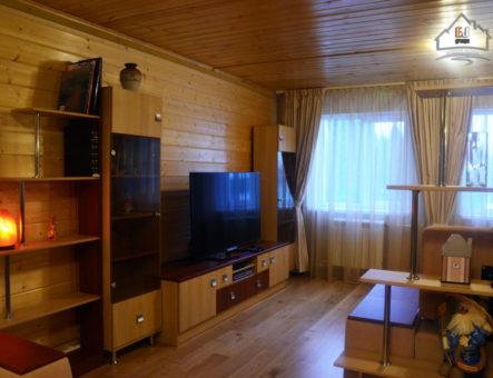 Реализация интерьера из массива дерева в частном доме, Рузский район