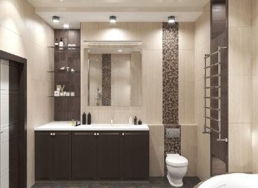 Ванная комната в ЖК «Ильинский Парк» Раменского района МО