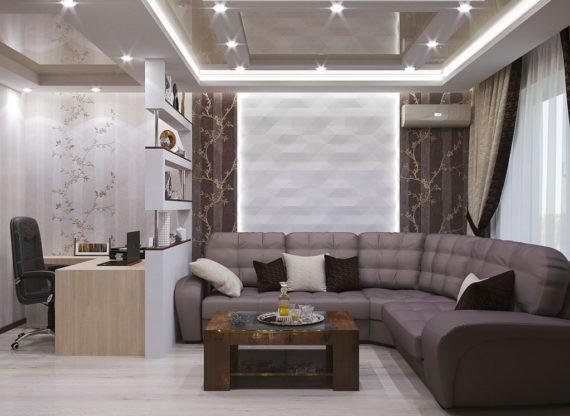 Проект двухкомнатной квартиры, г. Москва, ЖК «Митинский Парк»