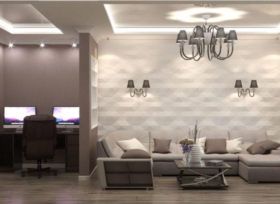 Проект трехкомнатной квартиры, г. Жуковский, ул. Солнечная, 10