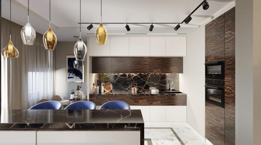 Дизайн кухни - кухня и столовая в одном флаконе
