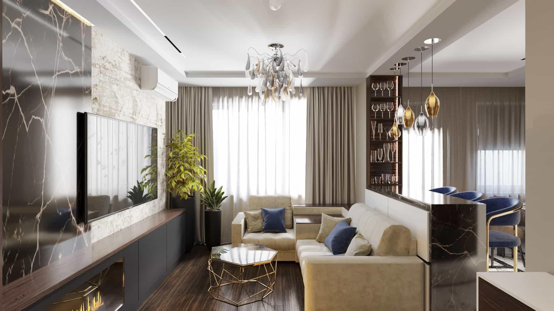 Эстетика уюта: интерьер трехкомнатной квартиры