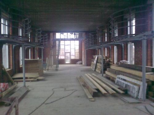 Конференцзал в Креатово, ход строительных работ