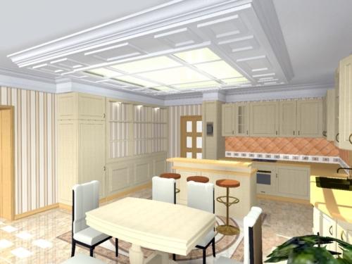 Интерьер коттеджа. Кухня